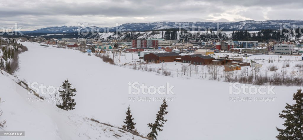 Whitehorse Yukon Canada Panorama stock photo