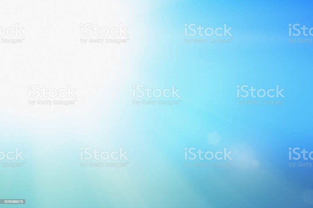 White-hot sun on pale blue sky: it's perfect weather stock photo