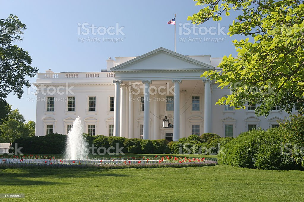 Whitehouse on a beautiful spring day in DC royalty-free stock photo