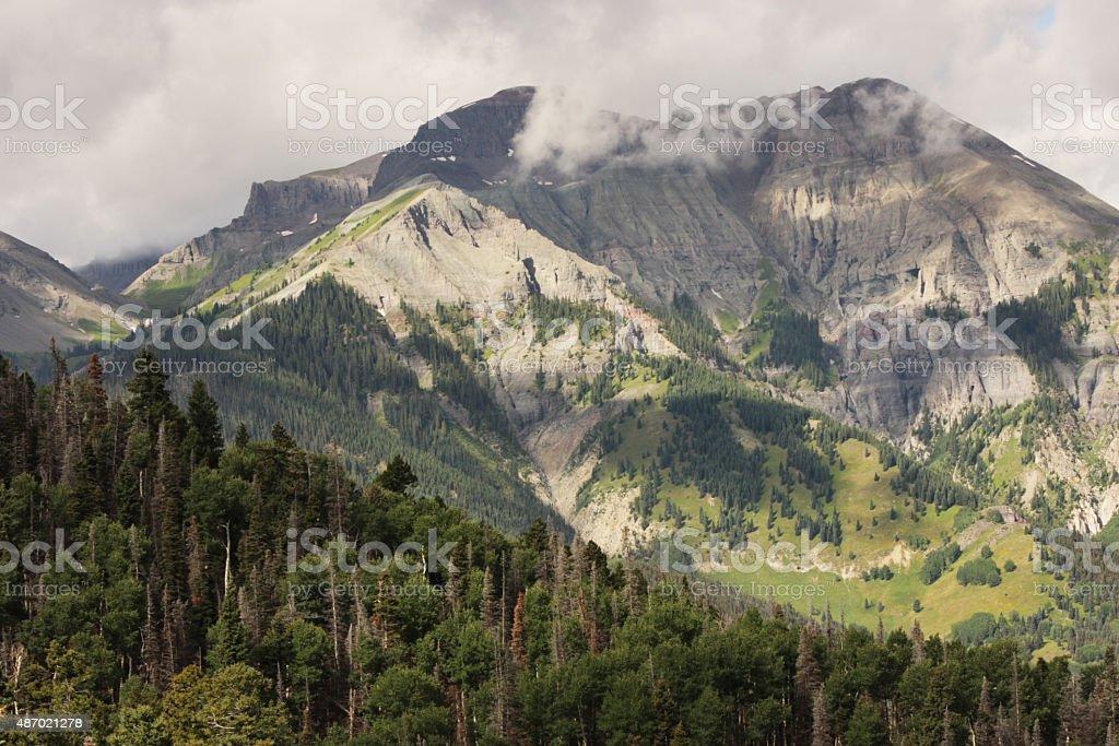 Whitehouse Peak San Juan Mountains stock photo