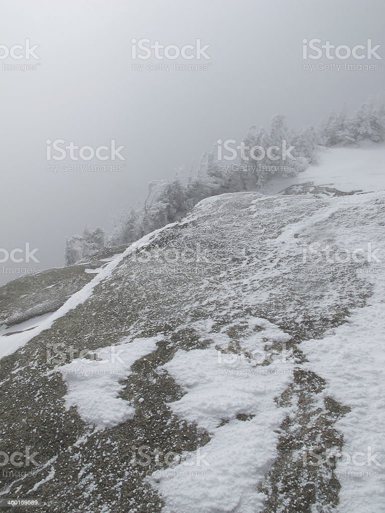 Whiteout on the Mt Osceola Summit stock photo