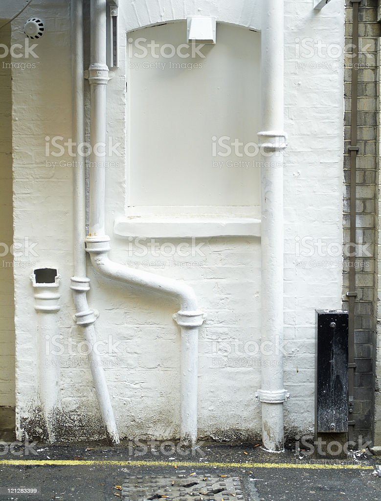 White-painted brick-wall royalty-free stock photo