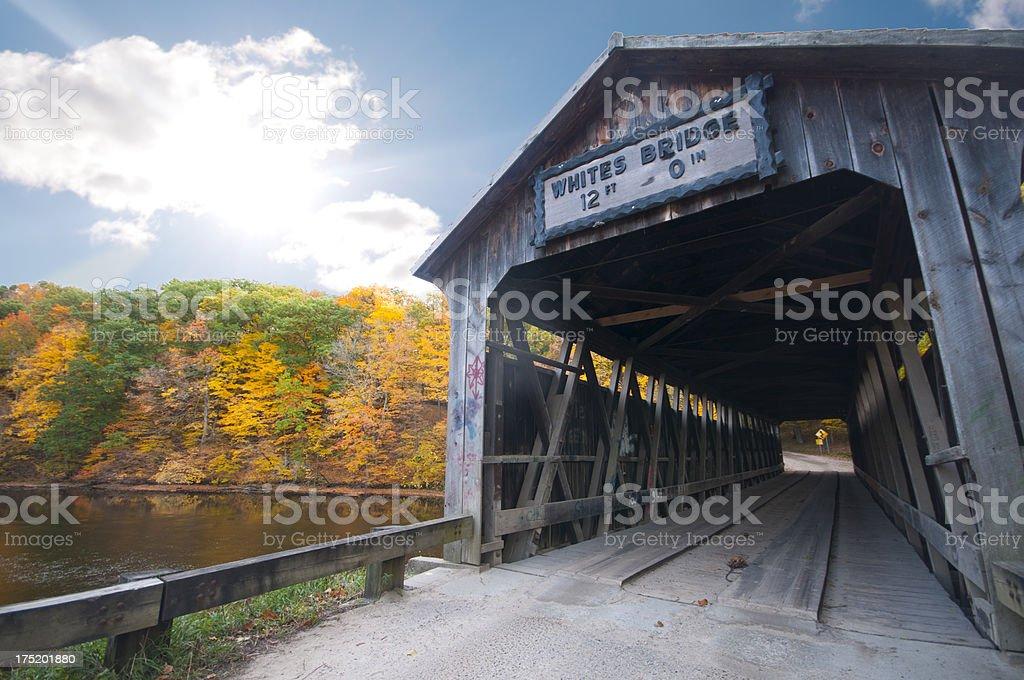 Whites Covered Bridge stock photo