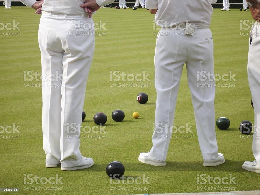 Whites game of bowls stock photo