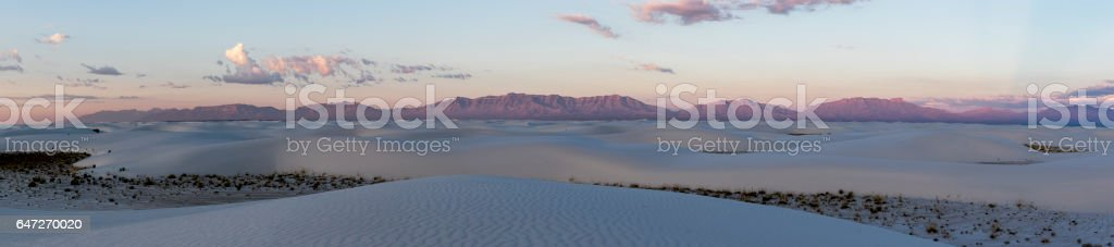 Whitesands Sunrise Panorama stock photo