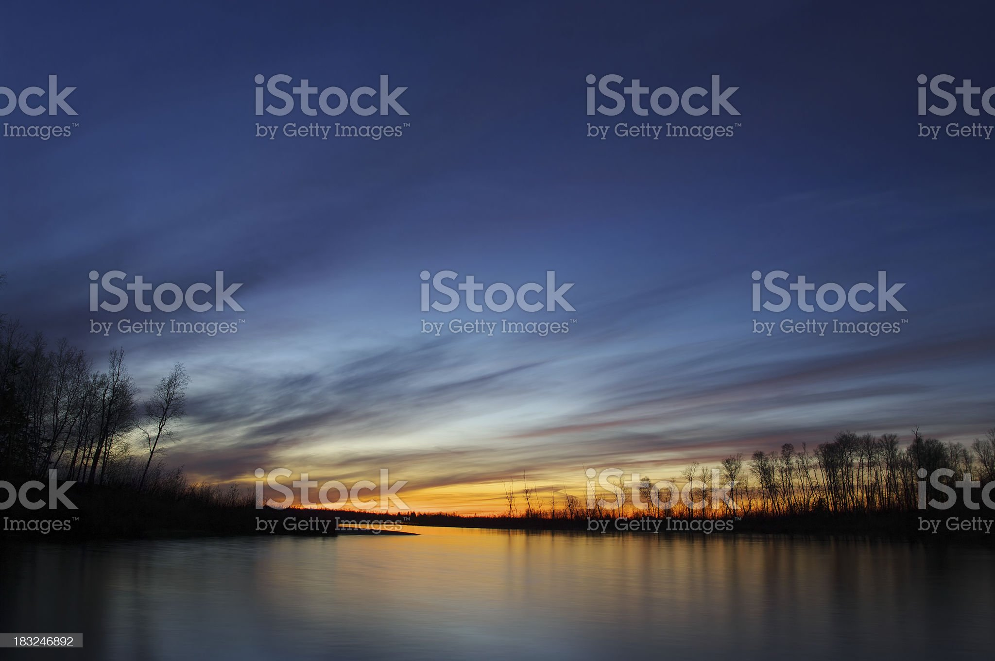Whiteshell Sunset royalty-free stock photo