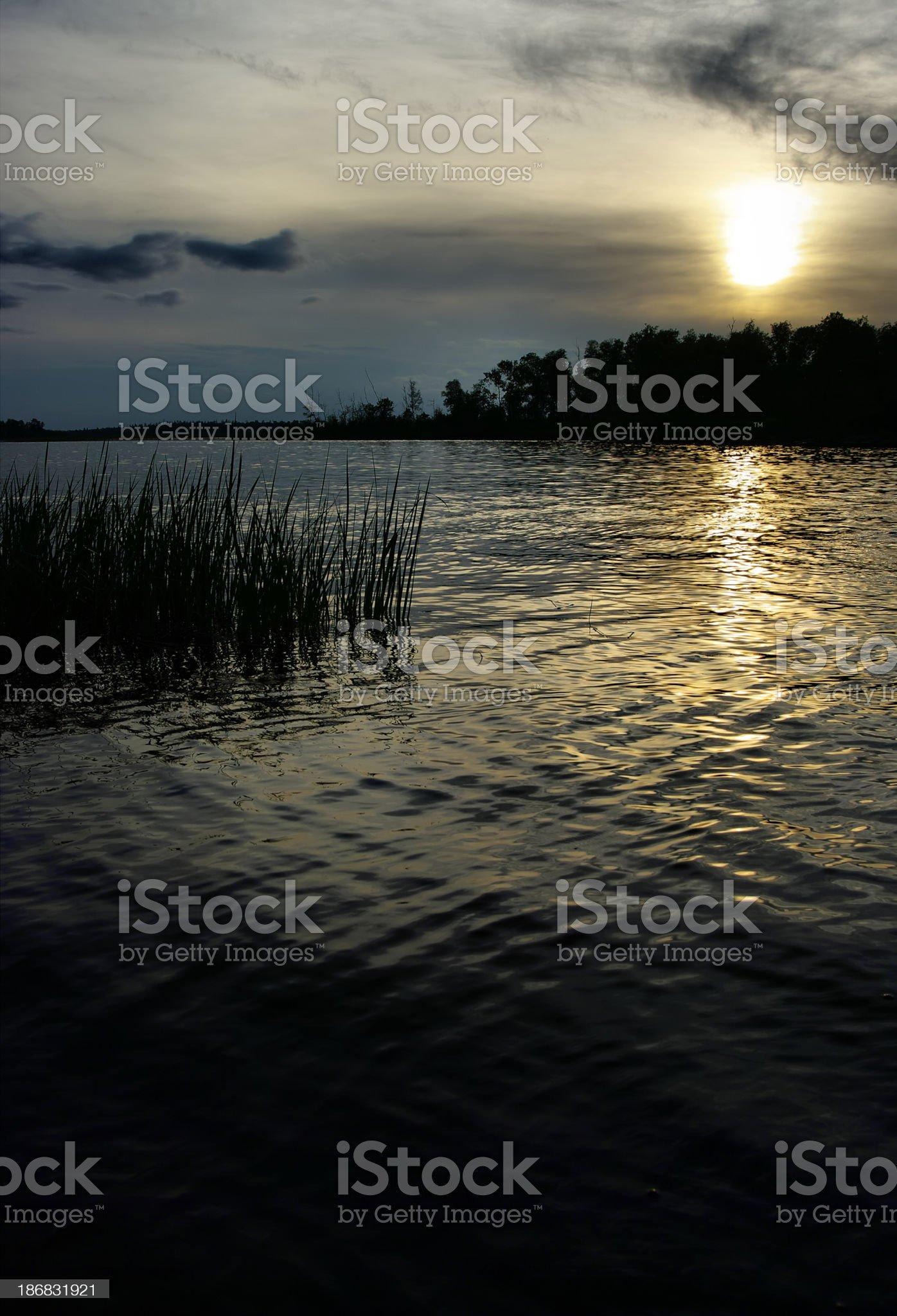 Whiteshell Sunset royalty-free stock photo