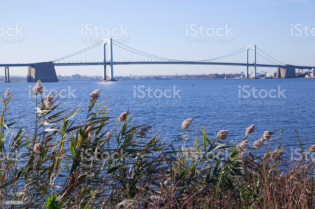 Whitestone Bridge in New York City stock photo