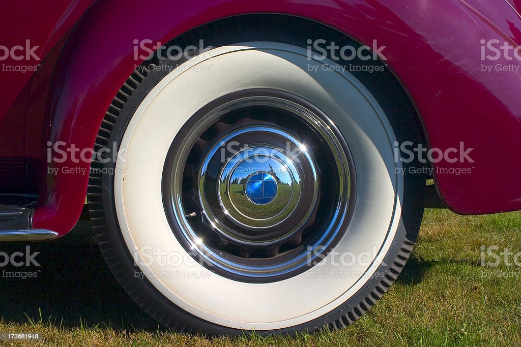 Whitewall tire stock photo