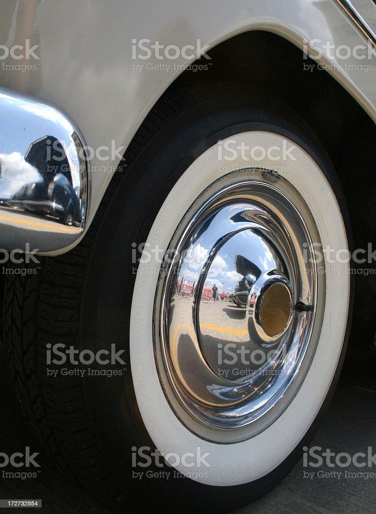 whitewall wheel royalty-free stock photo