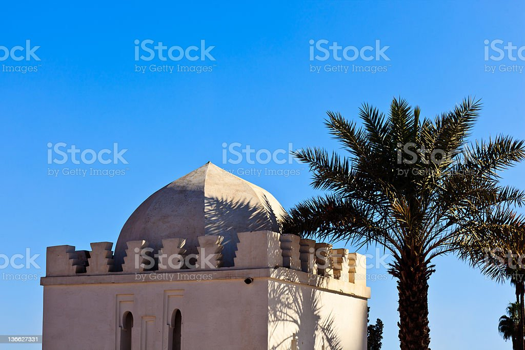 Whitewashed exterior of traditional domed building stock photo