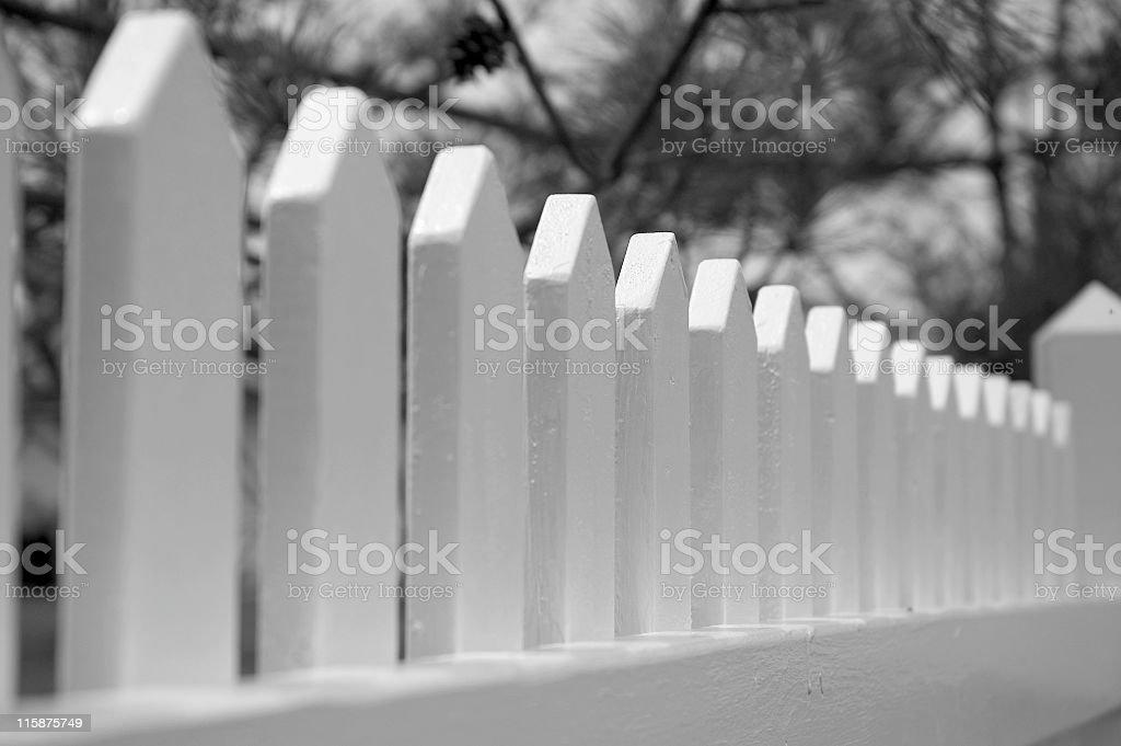 Whitewashed Picket Fence royalty-free stock photo