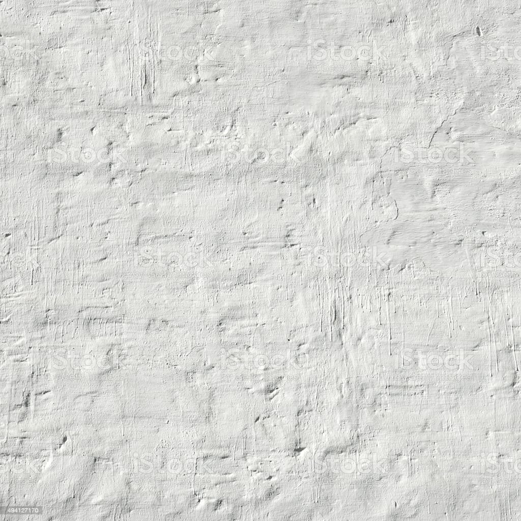Whitewashed Retro Brick Wall Uneven Bumpy Rough Rustic Backgroun stock photo