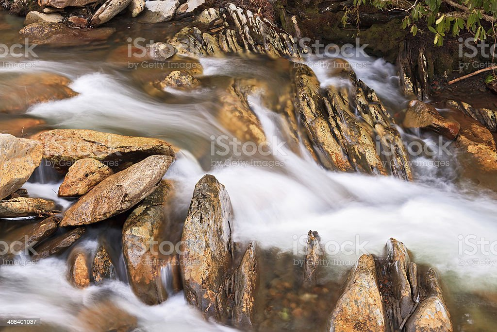 Whitewater and Rocks royalty-free stock photo