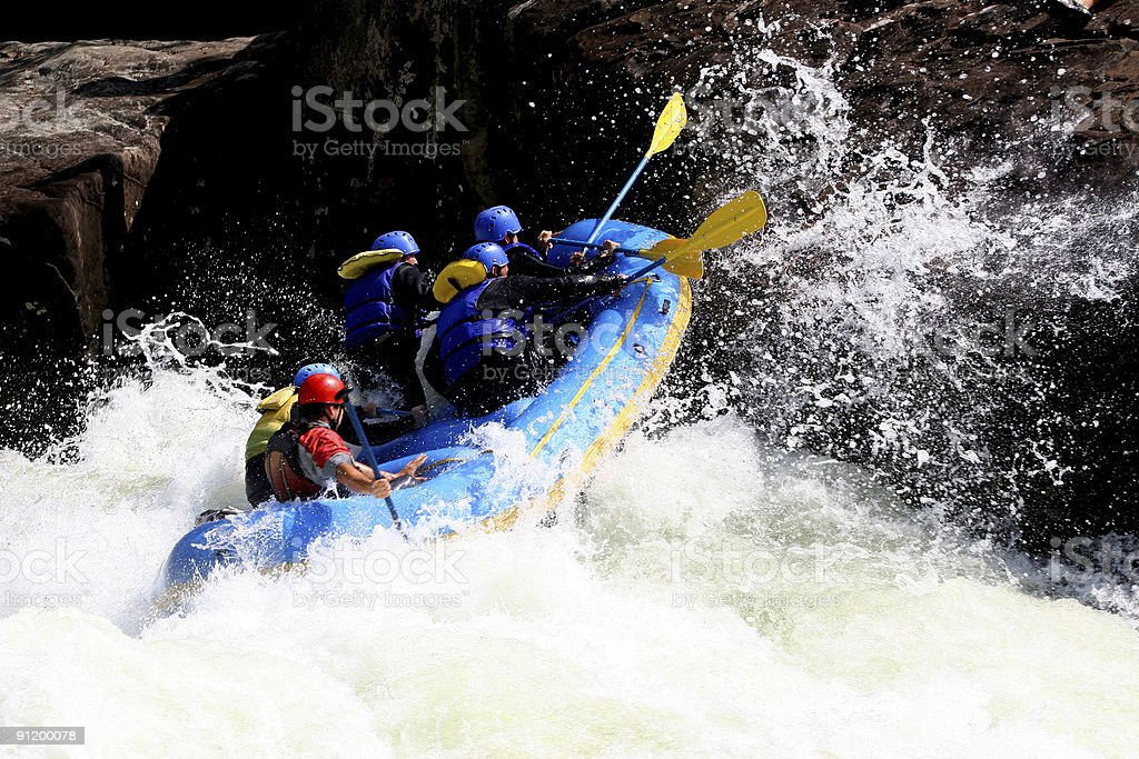 Whitewater Boating  2 royalty-free stock photo