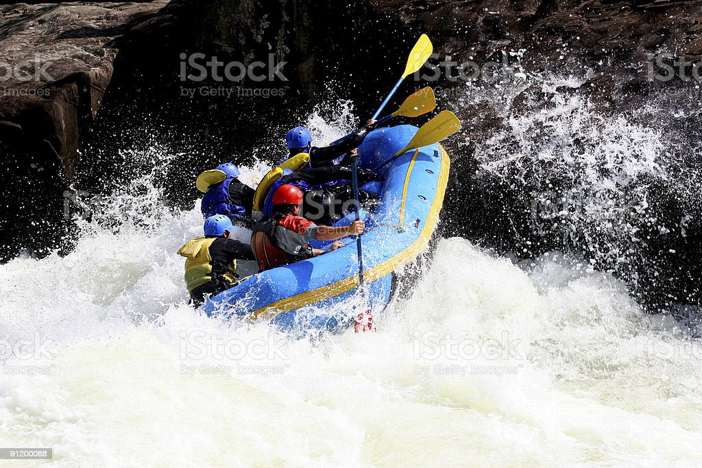Whitewater Boating  3 royalty-free stock photo