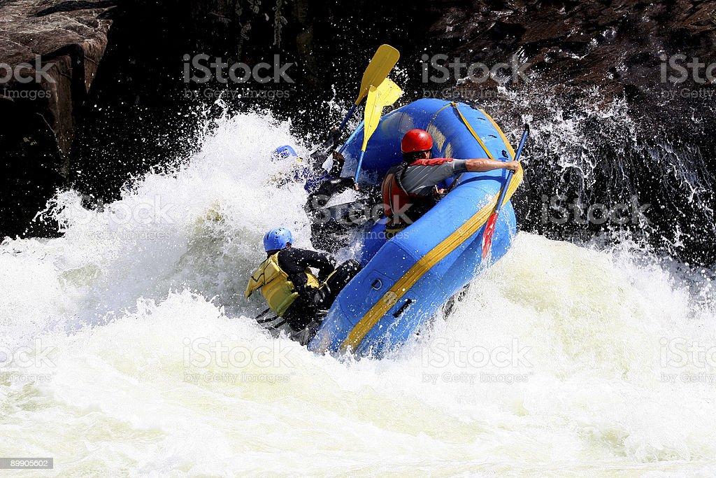 Whitewater Boating  4 royalty-free stock photo