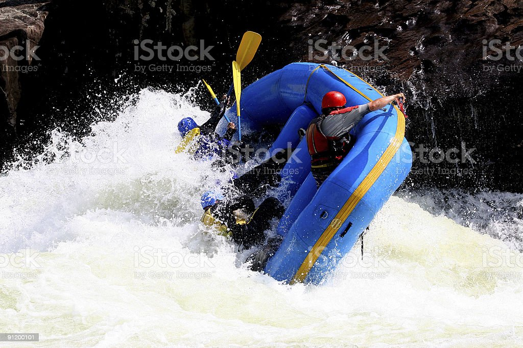 Whitewater Boating  5 royalty-free stock photo