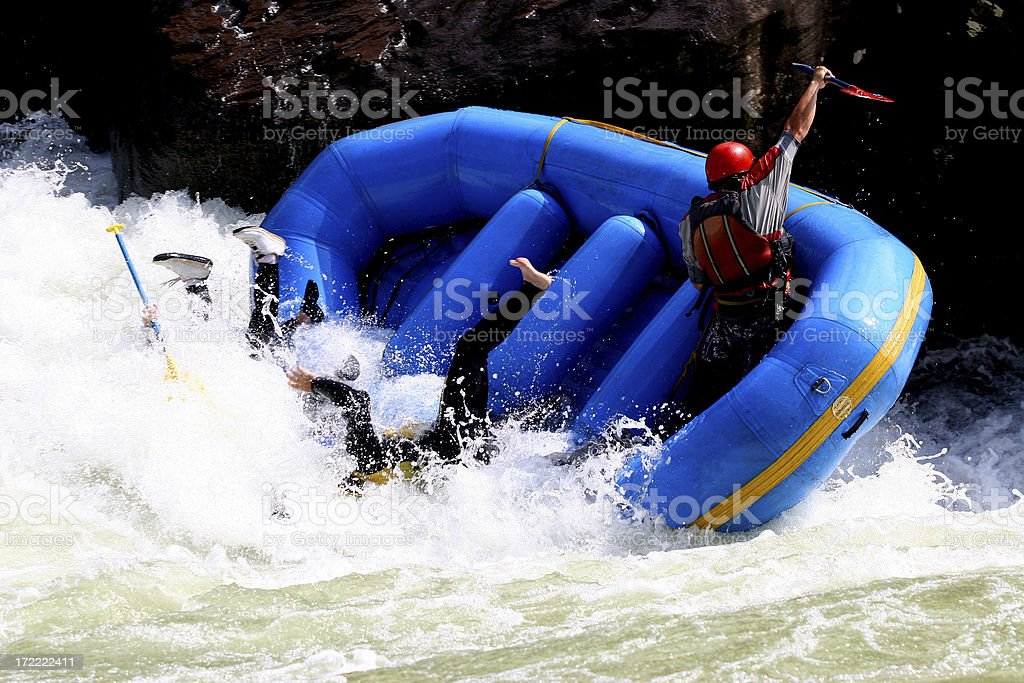 Whitewater Boating  7 royalty-free stock photo