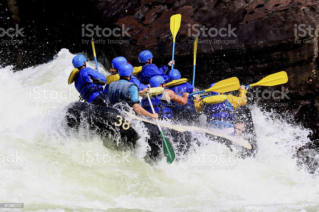 Whitewater Boating royalty-free stock photo