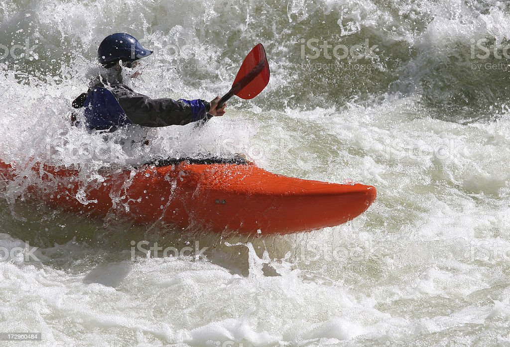 Whitewater Challenge royalty-free stock photo