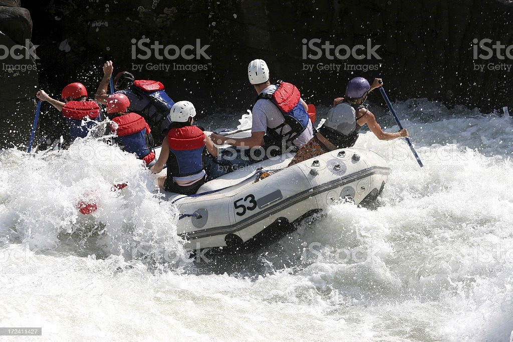 Whitewater Danger royalty-free stock photo