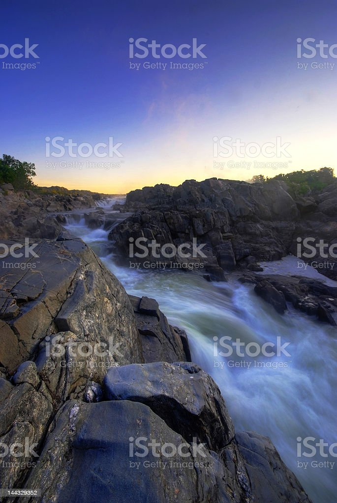 Whitewater in Great Falls stock photo