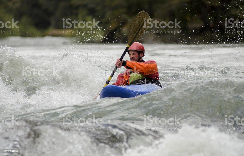 Whitewater Kayak stock photo