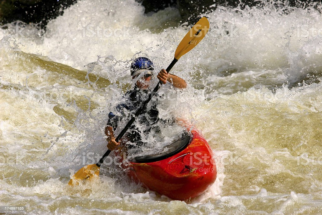 Whitewater kayaker royalty-free stock photo