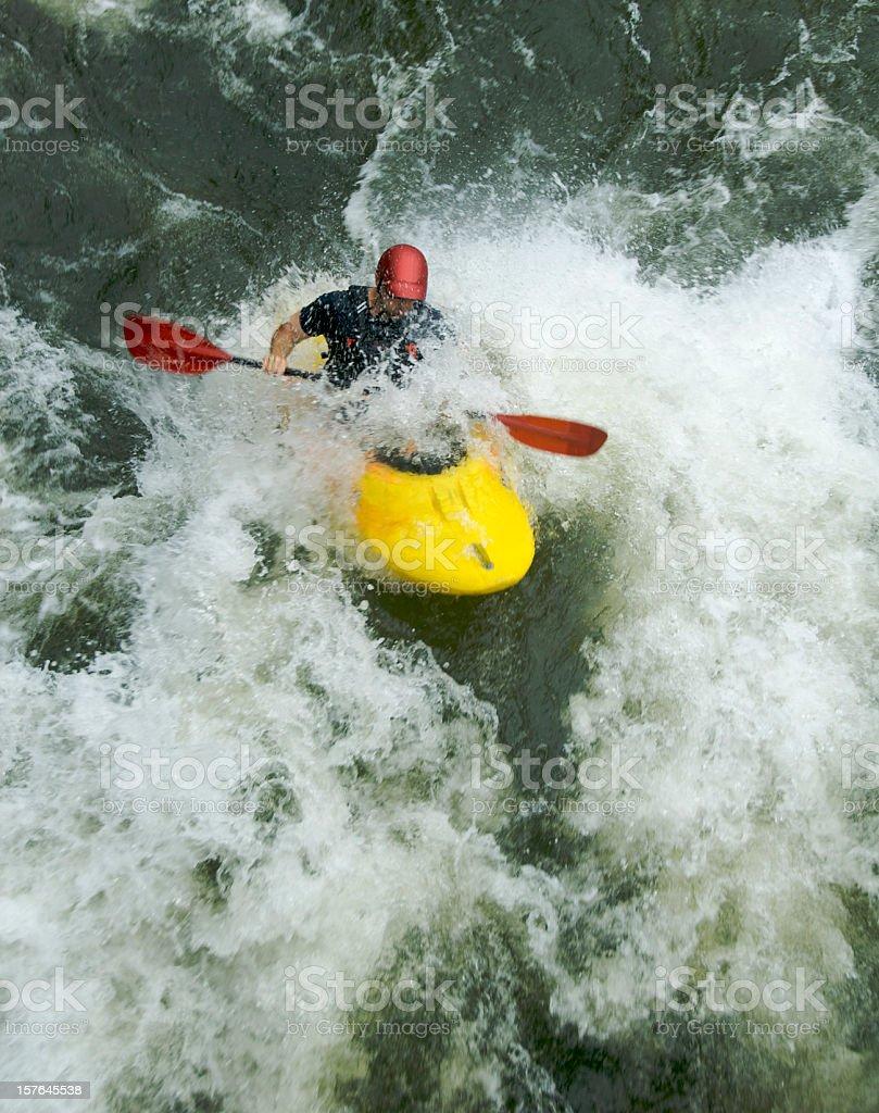 Whitewater Kayaking royalty-free stock photo