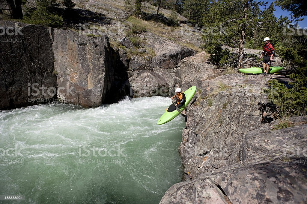 Whitewater Kayaking royalty-free stock photo