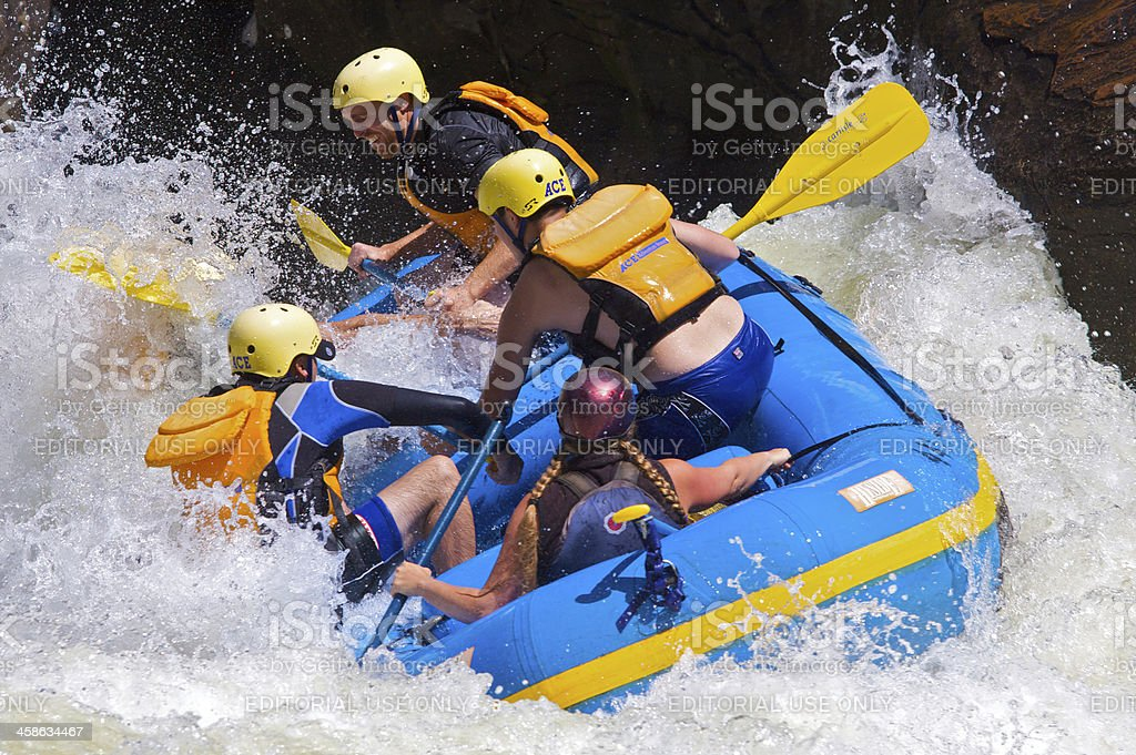 Whitewater on The Gauley stock photo
