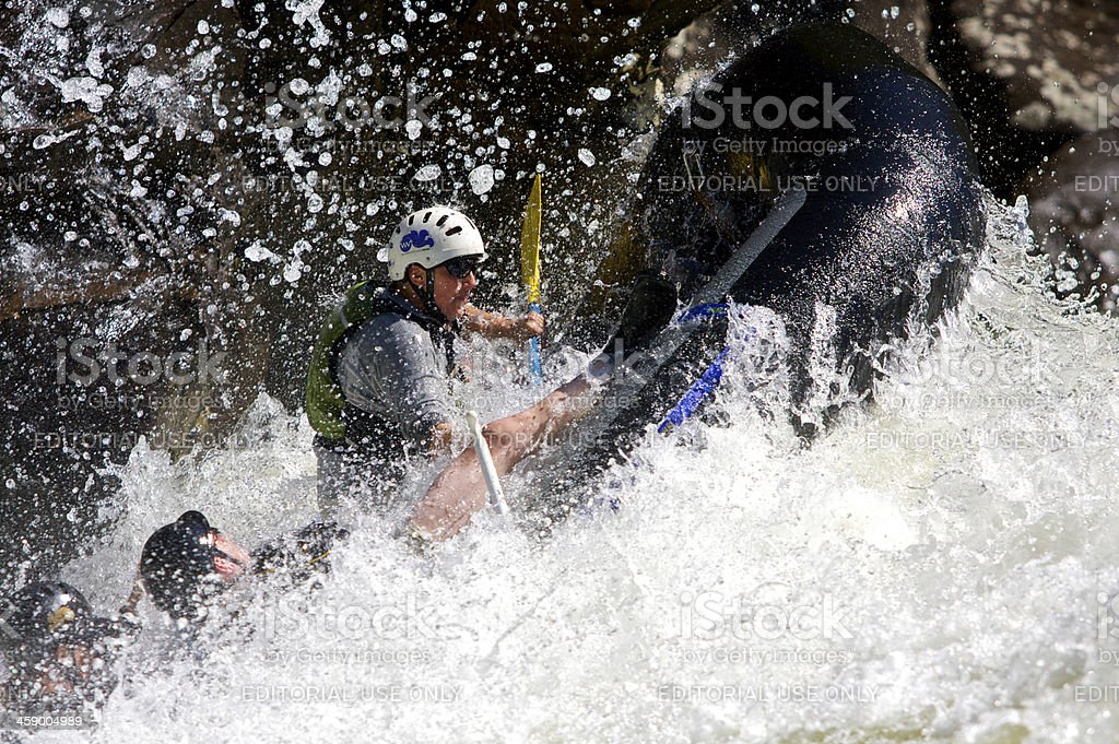 Whitewater on The Gauley royalty-free stock photo