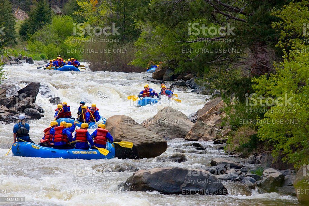 Whitewater Rafters royalty-free stock photo