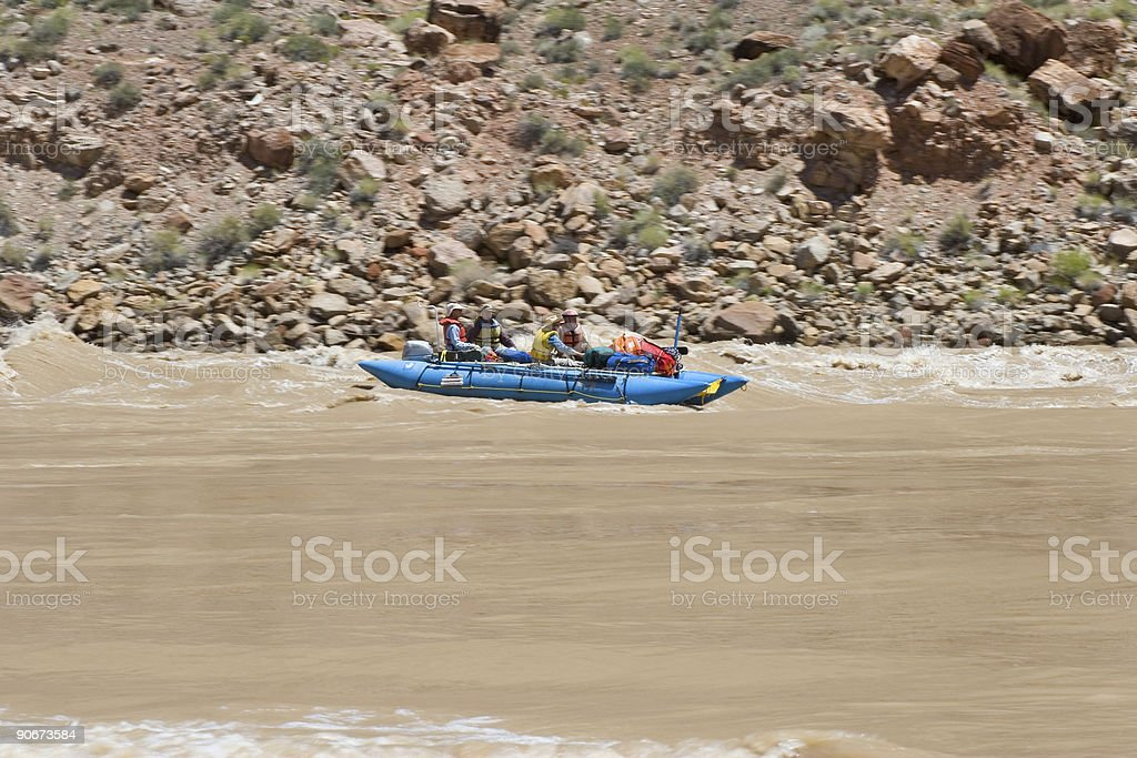 Whitewater Rafting 1 royalty-free stock photo