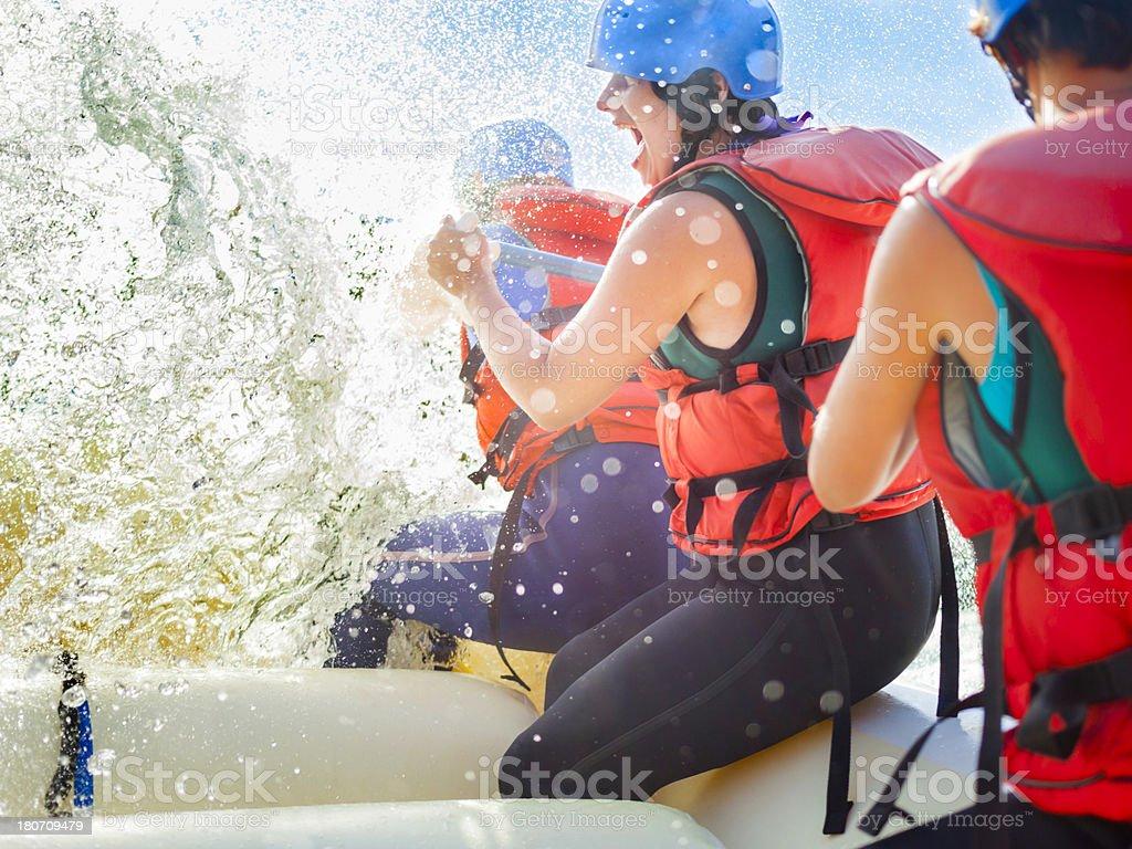 Whitewater Rafting Fun royalty-free stock photo