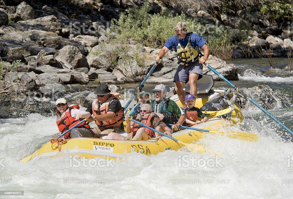 Whitewater Rafting, Idaho royalty-free stock photo