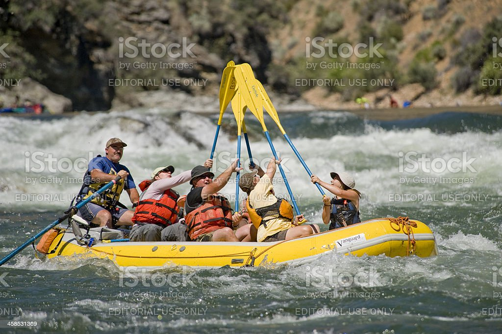 Whitewater Rafting, Idaho royalty-free stock photo
