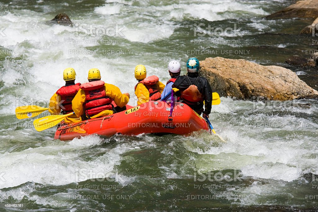 Whitewater Rafting in Clear Creek royalty-free stock photo
