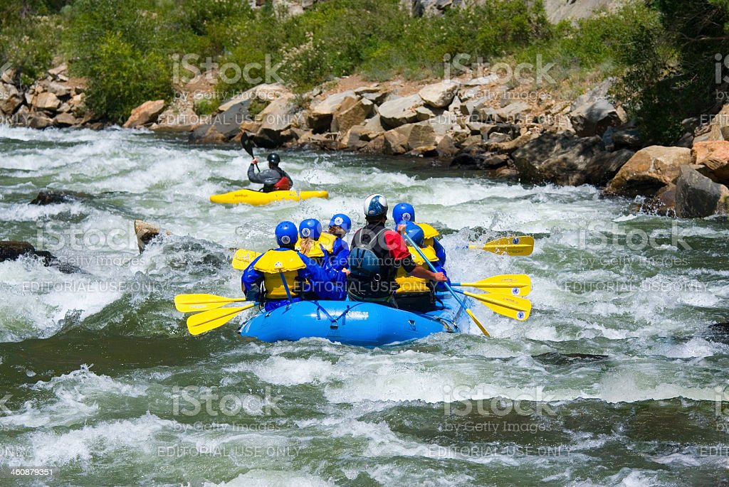 Whitewater Rafting in Clear Creek stock photo