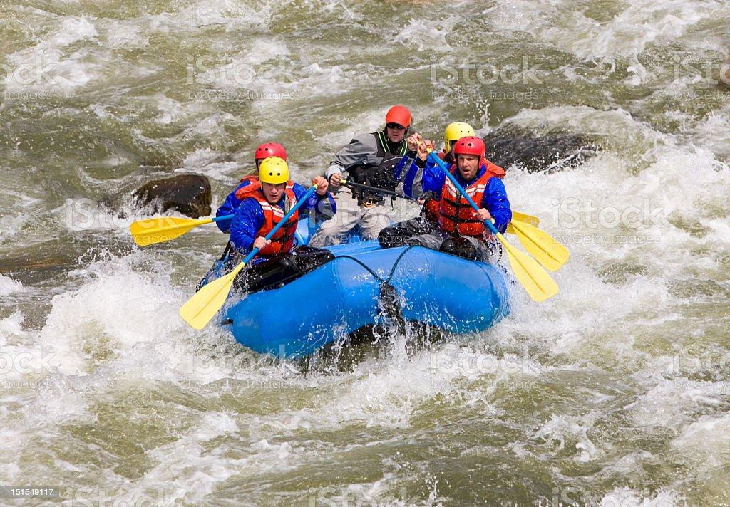 Whitewater Rafting In Colorado Rockies royalty-free stock photo