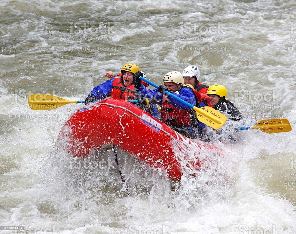 Whitewater Rafting Montana. royalty-free stock photo
