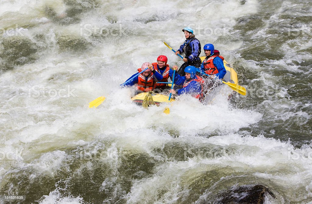 Whitewater Rafting On Arkansas River in Buena Vista Colorado royalty-free stock photo
