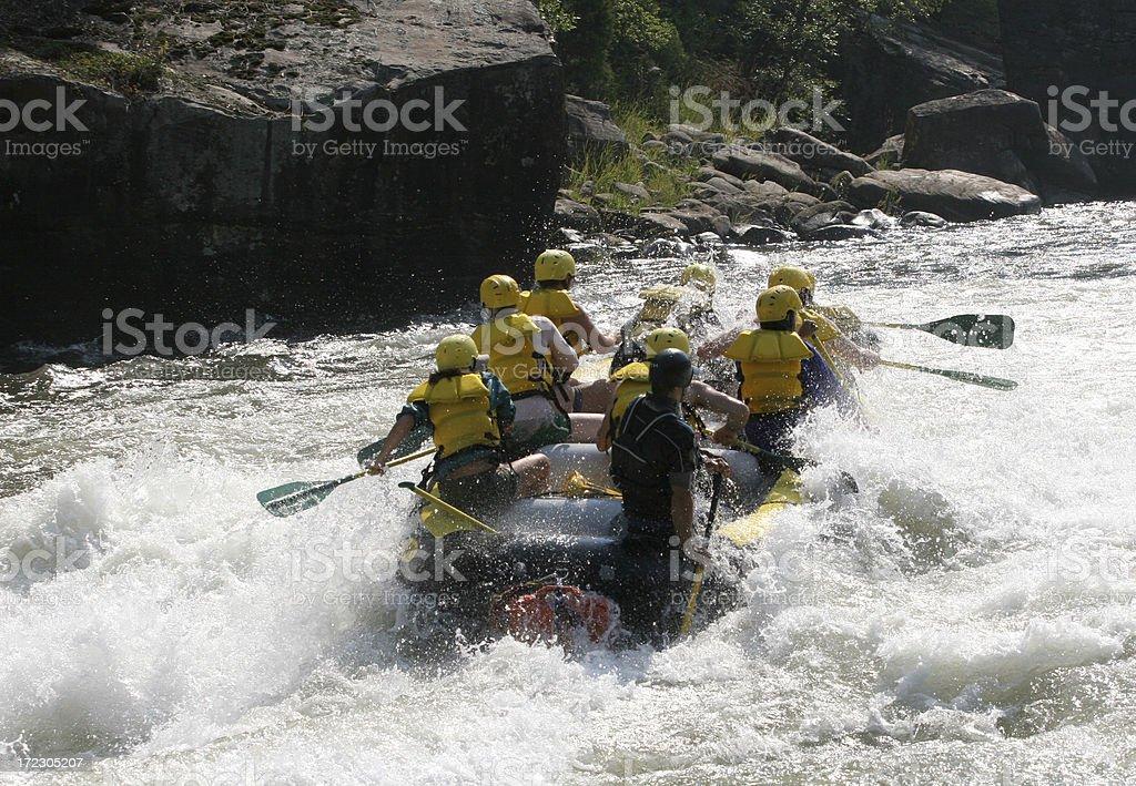 Whitewater rafting royalty-free stock photo