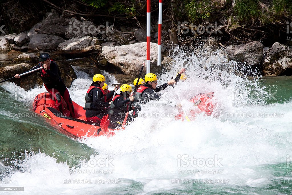 White-water rafting royalty-free stock photo