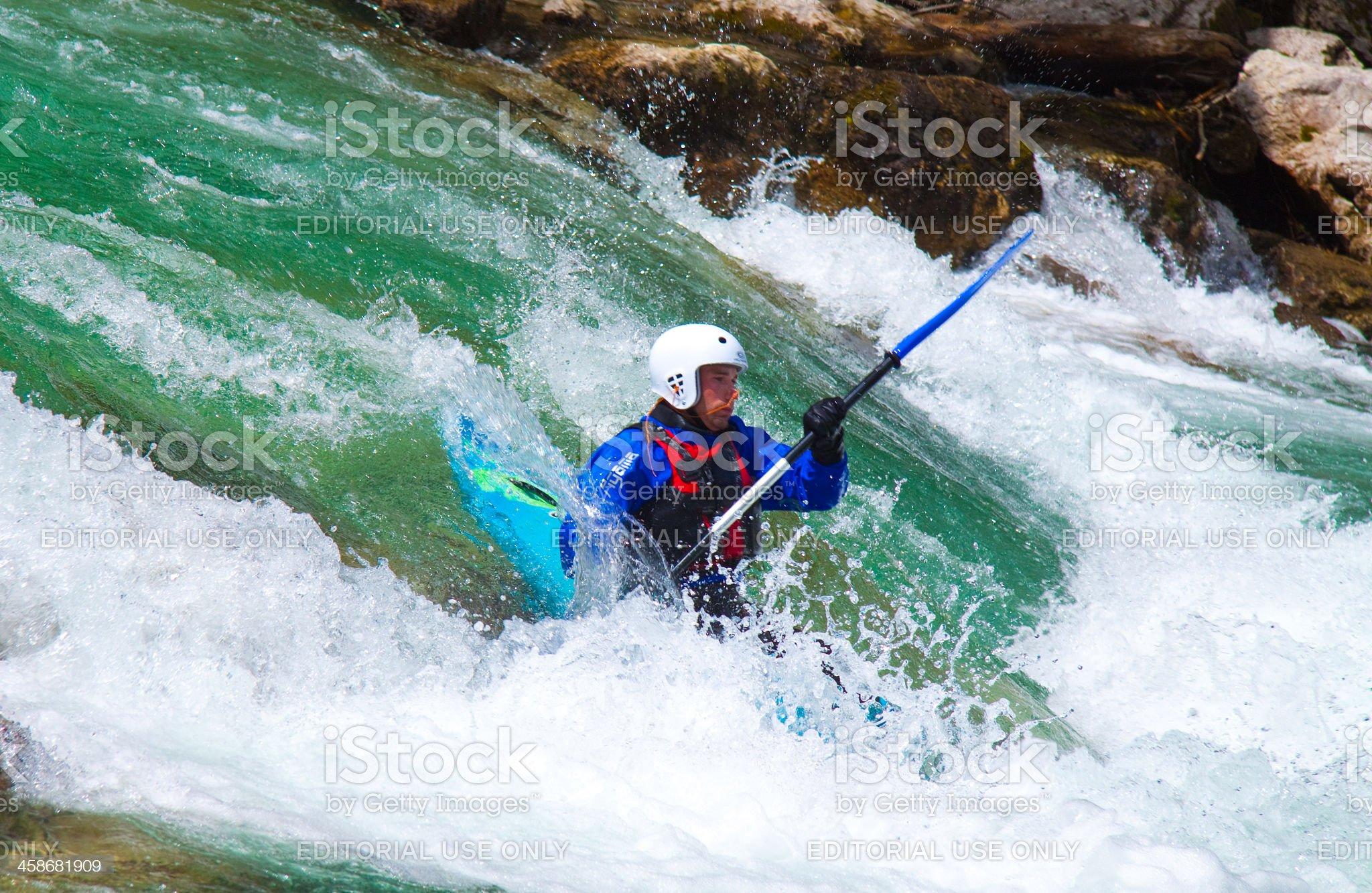 White-water rafting royalty-free stock photo