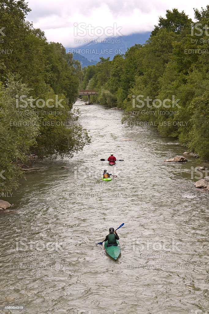 Whitewater Rafting royalty-free stock photo