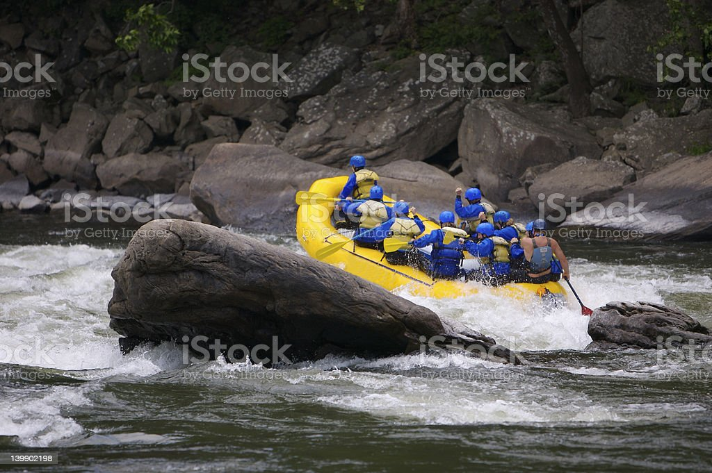 Whitewater Rating royalty-free stock photo