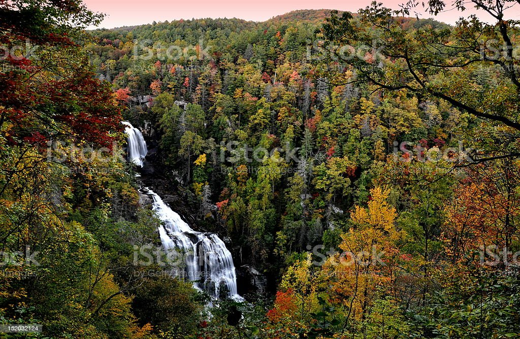 Whitewater River Falls. Foliage Colors. stock photo