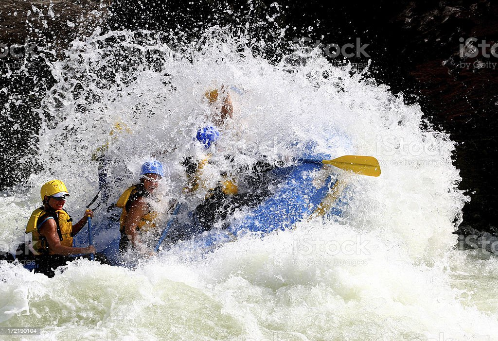 Whitewater Splash stock photo